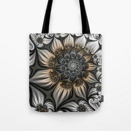 Noblesse, Modern Abstract Fractal Art Tote Bag