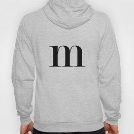 Monogram Series Letter M Hoody