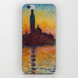 San Giorgio Maggiore by Twilight by Claude Monet iPhone Skin