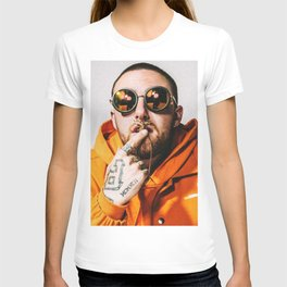 Mac Miller with sunglasses T-shirt