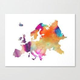 Europe map 2 Canvas Print