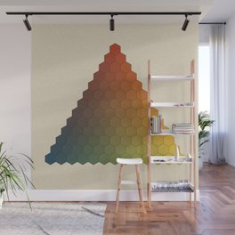 Lichtenberg-Mayer Colour Triangle vintage variation, Remake of Mayers original idea of 12 chambers Wall Mural