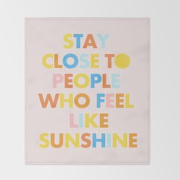 Sunshine People Throw Blanket