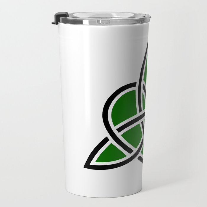 Celtic Valknut Trinity Knot With Interwoven Heart Travel Mug