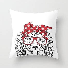 Goldendoodle  - Labradoodle  Throw Pillow