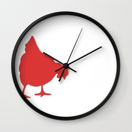 Farm Fresh Butt Nuggets Wall Clock