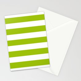 Limerick - solid color - white stripes pattern Stationery Cards