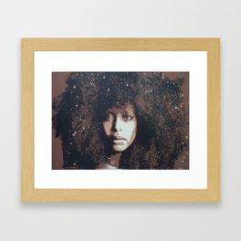 Musician Queen Erykah Badu stencil art unique painting Framed Art Print