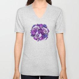 Romantic flowers III Unisex V-Neck