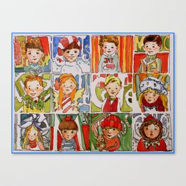 The Twelve Kids of Christmas Canvas Print