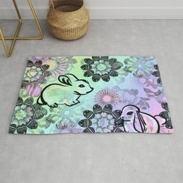 Easter Egg Pattern Rug