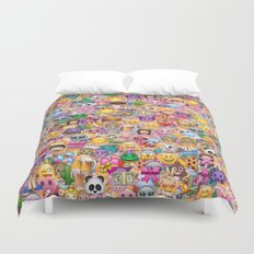 emoji / emoticons Duvet Cover