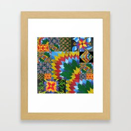 collages made with recycled math book drafts by cathy jacobs Framed Art Print