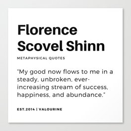 21    | Florence Scovel Shinn Quotes | 200126 Canvas Print