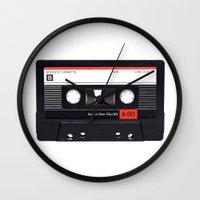 tape Wall Clocks featuring Old School Tape by Ewan Arnolda