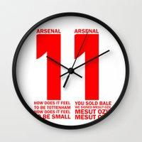 arsenal Wall Clocks featuring Mesut Ozil Chant by Maxvtis
