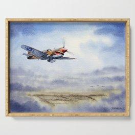 P-40 Warhawk Aircraft Serving Tray