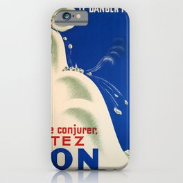 retro classic le danger menace pour le conjurer votez non le poster iPhone Case