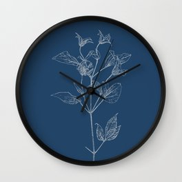 Clematis Blueprint Wall Clock