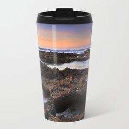 Yachats, Oregon Tide Pools at Sunset Travel Mug