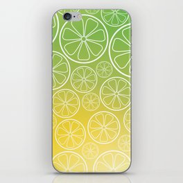 Citrus slices (green/yellow) iPhone Skin