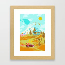 BETTER LAND Framed Art Print
