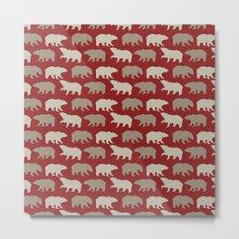 Beautiful Bear Pattern Metal Print