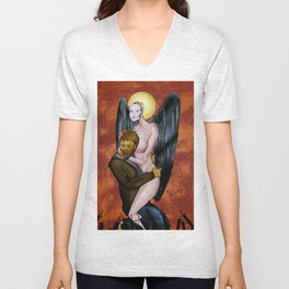 As Heaven Is Wide Unisex V-Neck