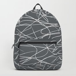 Hand Drawn Scribbles (Charcoal Grey) Backpack