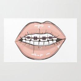 Lips vs braces Rug