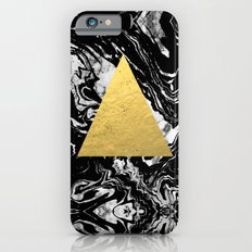 Layden - triangle black and gold marble trendy hipster gift idea cell phone case minimal abstract  Slim Case iPhone 6s