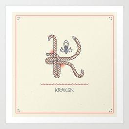Ahoy! Letter K Art Print