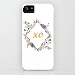 Lettering and Watercolor Flowers #3 iPhone Case