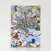 baltimore Stationery Cards featuring Baltimore Mondrian by Mondrian Maps