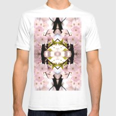 A touch in pink MEDIUM White Mens Fitted Tee