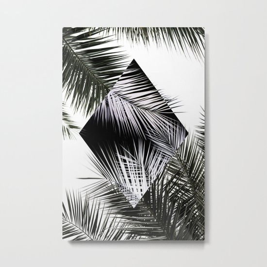 Palm Leaves 3 Geometry Metal Print