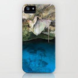 Dos Ojos Cave Cenote Mexico Mayan Jungle Nature Reserva Reserve Travel Latin America iPhone Case