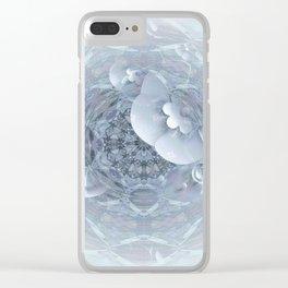 Gothic Wedding Floral Web Mandala Clear iPhone Case