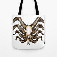 venom Tote Bags featuring Venom by Ryan Eduad