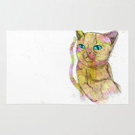 Coloured Cat Rug