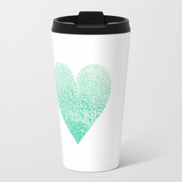 SEAFOAM HEART Travel Mug