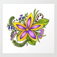 cassandra jean Art Prints featuring Cassandra by Phoebe Jayne