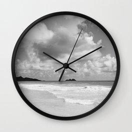 Monochrome Hawaii Wall Clock