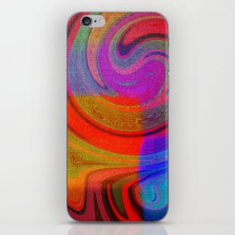 vortices of colors iPhone Skin