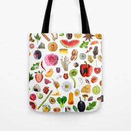 Food Doodles Tote Bag