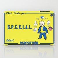 fallout iPad Cases featuring PerceptionS.P.E.C.I.A.L. Fallout 4 by sgrunfo