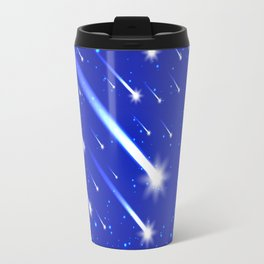 Space background with stars and comets Travel Mug