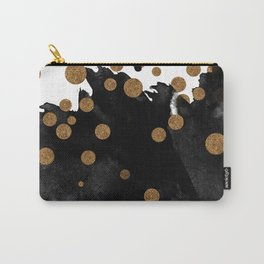 Smudge - Black and Gold Carry-All Pouch