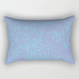 Blue Haze Pattern Rectangular Pillow