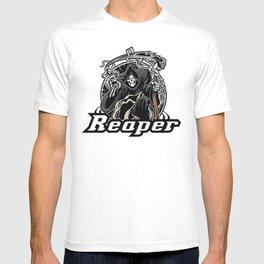 Illustration of grim reaper on white background T-shirt
